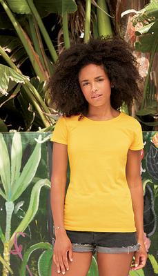 T-Shirt Promo Dames Ronde Verstevigde Halsuitsnijding